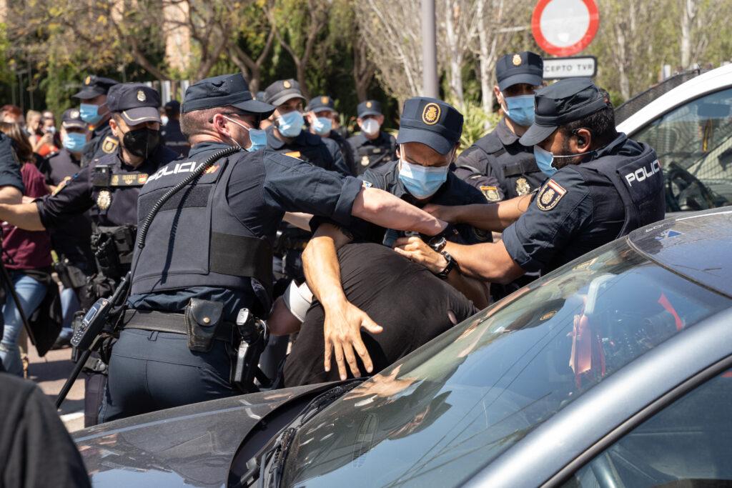 Detención del militante de la JCPE