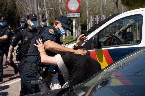 Represión universidad de Castellón ante la visita del rey